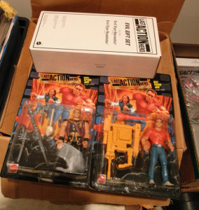 Back in 1993 I thought Arnie was cute in Last Action Hero.  Today, I can't give them away. I'd be happy to open these suckers up if anyone showed the slightest interest in playing with them.