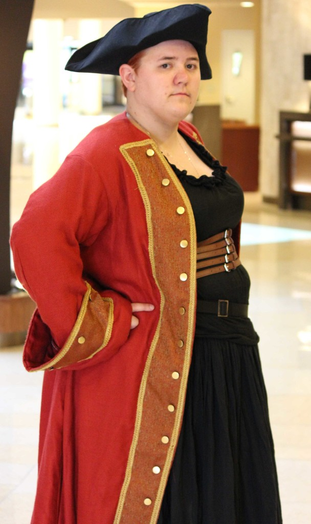 Alayna Garrison from Canada dressed as a pirate.