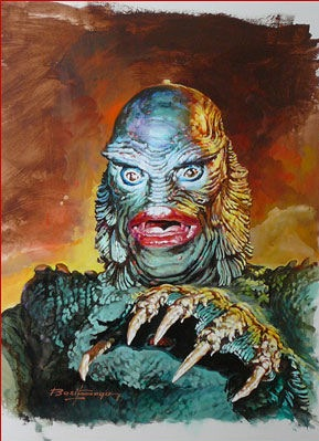 Basil Gogos - Creature from the Black Lagoon-8x6