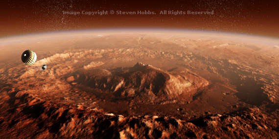 Curiosity Lands in Gale Crater wm