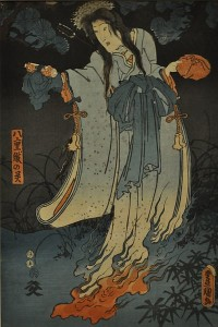 Female Ghost, 1852, ukiyo-e by Utagawa Kunisada.