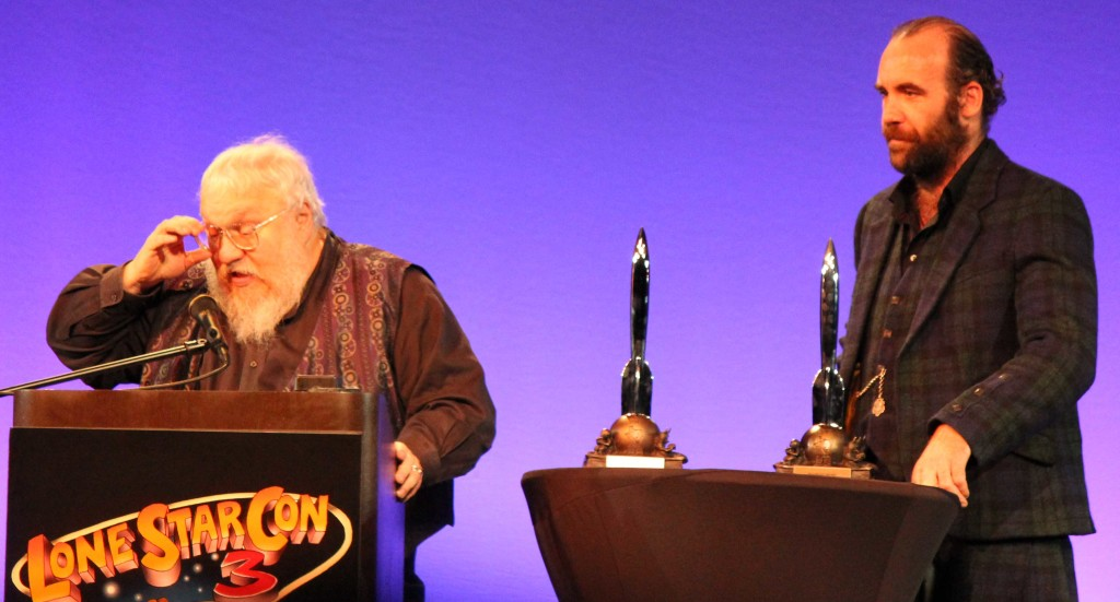 George R. R. Martin and The Hound at the Hugos