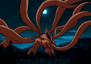 The nine-tailed fox demon from Naruto.