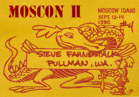 Moscon 2 Name Badge illo by Jack Gaughan