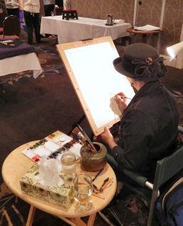 Melissa Duncan demos painting
