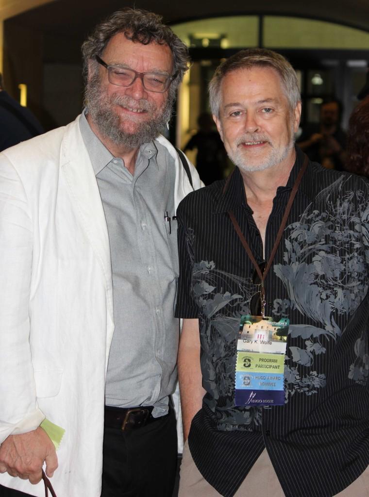 L to R: Michael Swanwick, Gary K. Wolfe