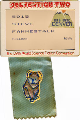 Denvention 1981 nametag