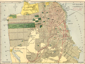 San Francisco City Map ca. 1910