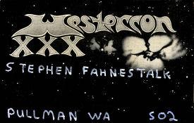 Westercon XXX Nametag