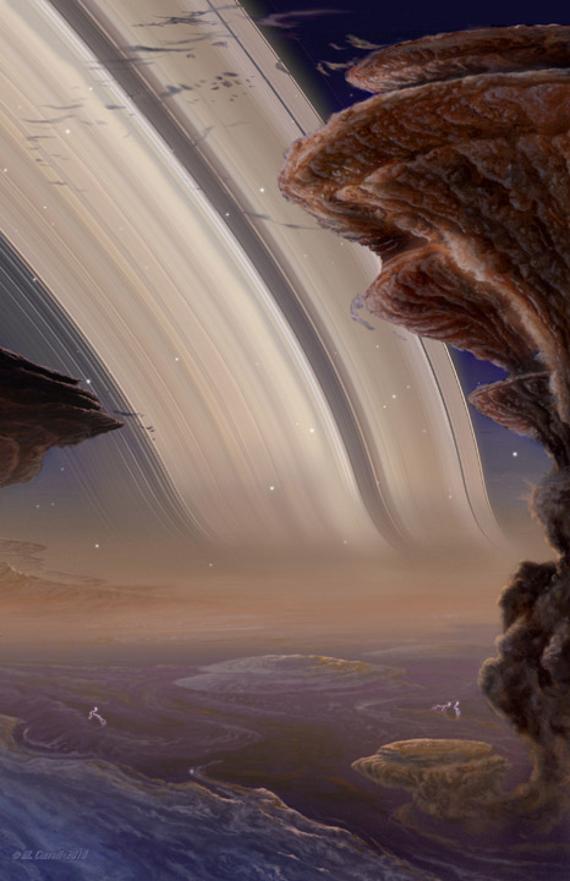 amazing - Michael Carroll - Saturn Rings at Night (1)