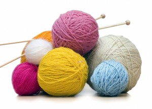 Knitting by hand looks like this