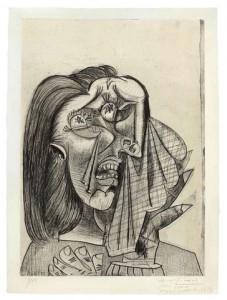 "Pablo Picasso, ""La Femme Qui Pleure I"" (1937) $5,122,500 at Christie's New York, November 1, 2011."