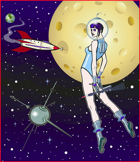 Spacewoman and Satellite