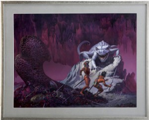 """Michael Whelan """"Warlord of Mars"""" cover purchased 1998 for $8500, sold 2008 for $20K"""