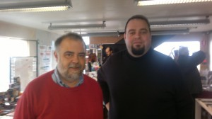 """Otro amigo de años que finalmente conozco """"en vivo y en directo: José Joaquín Ramos de Alfa Eridiani y A. López, cuyos """"nuevos fragmentos del futuro"""", me encuentro leyendo."""