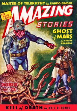 Amazing Dec 1938 Cover by Tillotson (Fuqua)