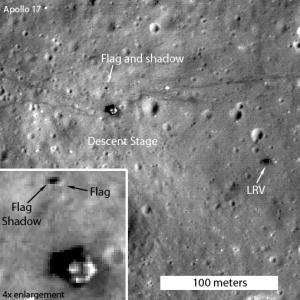 LRO Image of Apollo 17 Landing Site (2012)
