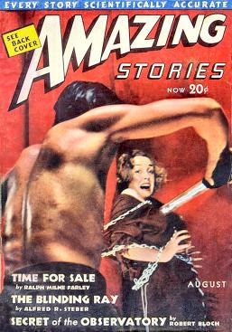 Amazing August 1938 cover photo Henry F. Kroeger Jr.
