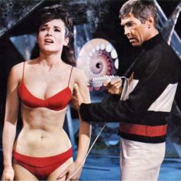 Flint rescues Gila from Galaxy Island