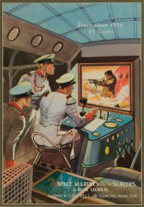 "Leo Morey ""Space Marines and the Slavers"" cover, Amazing Stories magazine, Dec. 1936"
