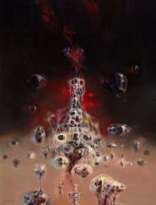 "Richard Powers, paperback cover art for ""Wine of the Dreamers"" (1971) sold at Heritage Auction 2010 for $31,070"