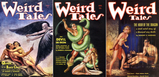 Figure 2 – Margaret Brundage's Weird Tales Conan Covers