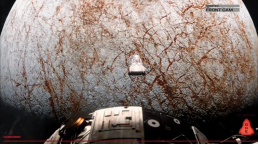 Figure 5 - Lander Descends to Europa (Front Cam)
