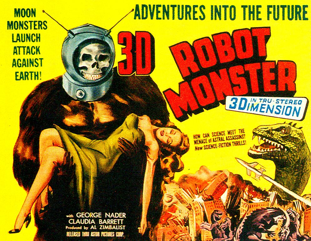 RG Cameron February 14 illo #1  Robot Monster Ad