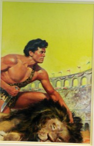 "Robert Stanley ""Tarzan and the Lost Empire"" Dell pb cover, 1952.  Whatever you think it's worth, won't be enough.  Triple that, and it's still ""no"""