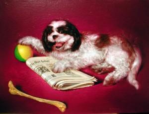 """Richard Bober """"Bandit"""" pet portrait commission, 2004"""