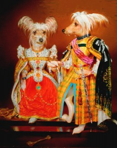 """Richard Bober """"Lord and Lady Rockford"""" (Rocky and Cutie Pie) c. 2012.  Oil, 30"""" x 24"""""""