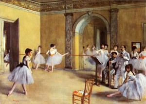 """Edgar Degas """"Dance Class at the Opera"""" 1872publicly disavowed his previous friendships with Jewish artists, and refused to use models who he believed might be Jewish. He remained an outspoken anti-Semite and member of the anti-Semitic """"Anti-Dreyfusards"""" until his death"""