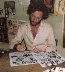 dibujando a Juan Moreira 1984