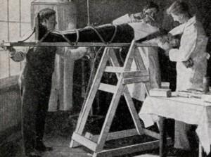 Dr. Cornish demonstrates his scientific method. Modern Mechanix, February 1935.
