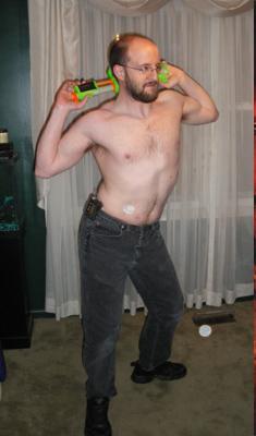 Semi-Nude Male courtesy Jim C. Hines Cover Pose Project