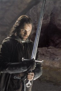Aragorn with Anduril