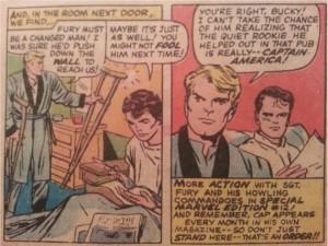 Marvel Comic SGT Fury Captain America last page