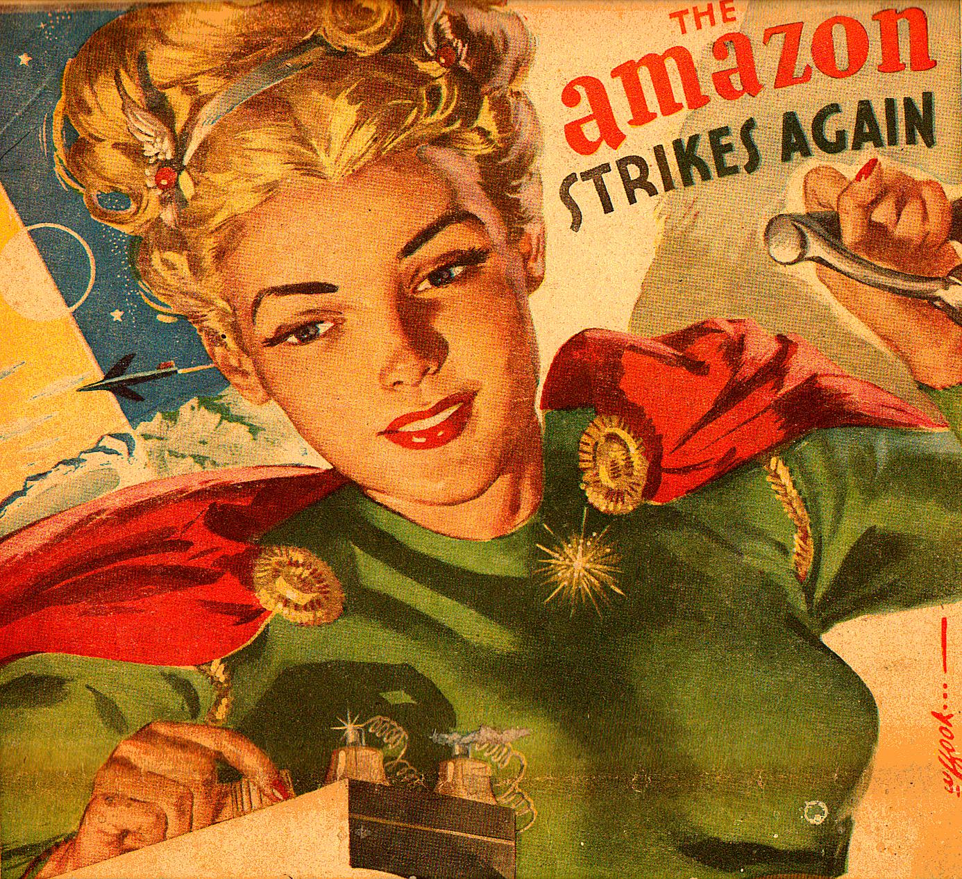 RG Cameron March 7 2014 illo #2 'Amazon Strikes Again'
