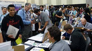 San Diego Comic Con, Artist's Alley 2012, run by Deviant Art and thanks to their site for this photo