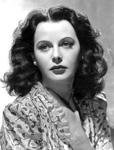 Hedy Lamarr in a publicity photo from the 1930s. Courtesy of Wikimedia Commons.