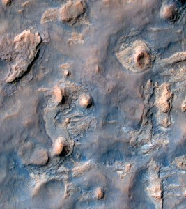 This is a photo of the Curiosity rover as seen from orbit by HiRISE