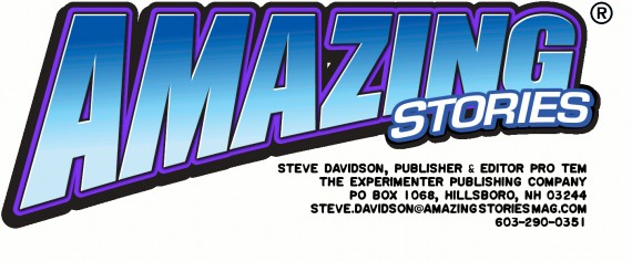 Amazing Stories Logo for letterhead with address info