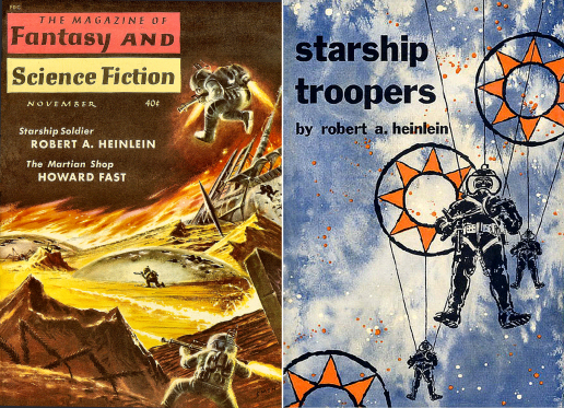 . Figure 3 – Starship Troopers F&SF and PutnamCovers