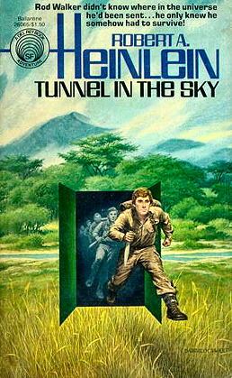 Figure 5 - Darrell Sweet cover for Tunnel in the Sky from Del Rey Books