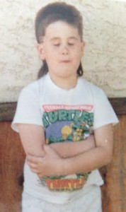 If you don't have an embarrassing picture like this, you didn't grow up with the Ninja Turtles