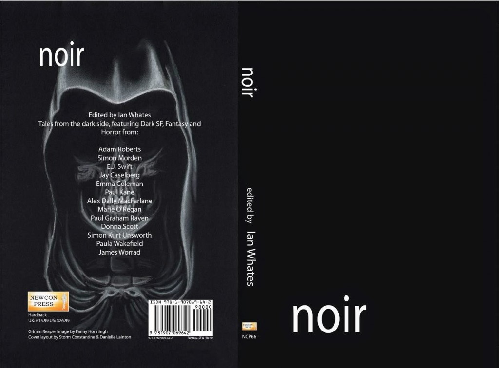 Noir, edited by Ian Whates - back and front cover