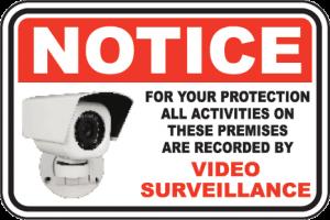 Notice of Video Surveillance