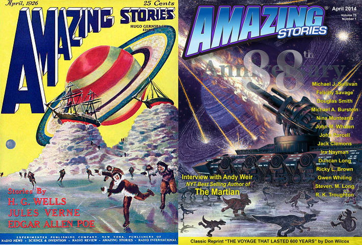 On the Cover: Amazing Stories April 2014