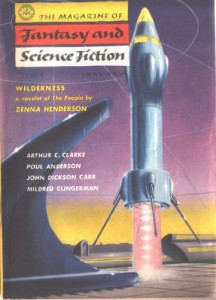 Fantasy & Science Fiction cover - January 1957