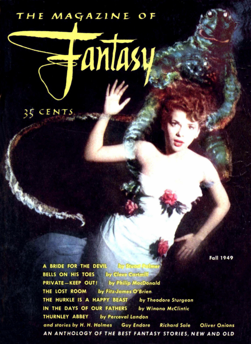 Figure 3 - Magazine of Fantasy (F&SF) issue 1 Cover by Bill Stone